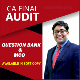 CA FINAL AUDIT Question Bank & MCQ BOOK (ONLY SOFTCOPY): Study Material By CA Kapil Goyal (For Nov. 2021)