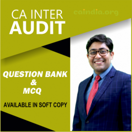 CA INTER AUDIT Question Bank & MCQ BOOK (ONLY SOFTCOPY): Study Material By CA Kapil Goyal (For Nov. 2021)
