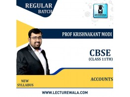 11th CBSE Accounts Full Course : Video Lecture + Study Material By Prof Krishnakant Modi (For Feb. 2022)