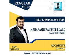 11th & 12th Maharashtra State Board - Accounts Combo Full Course : Video Lecture + Study Material By Prof Krishnakant Modi (For February 2022)