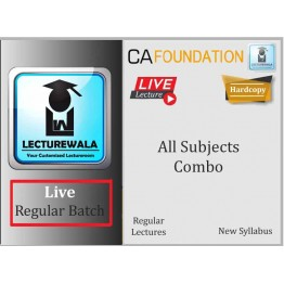 CA Foundation All Subject Combo Live Regular Batch : Video Lecture + Study Material by ICM Amritsar Gautam Bery & Team (Nov. 2020 & May 2021)
