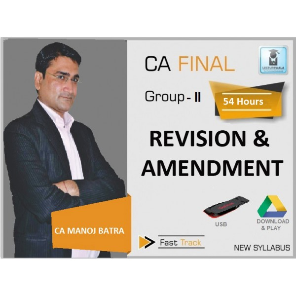 CA Final IDT Crash Course : Video Lecture + Study Material by CA Manoj Batra (For May & Nov. 2019)
