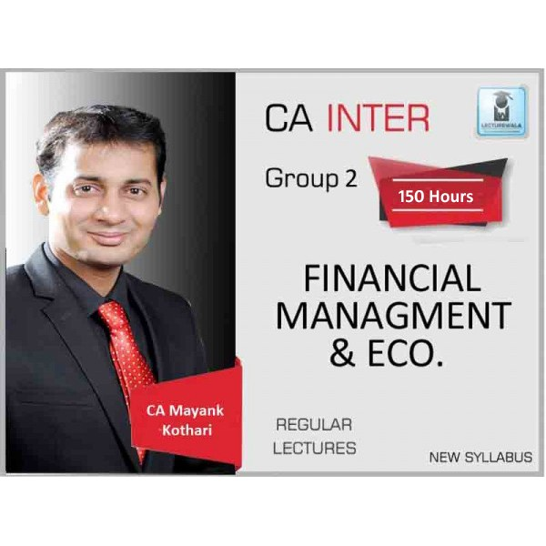CA Inter FM And Eco. Regular Course Combo : Video Lecture + Study Material By CA Mayank Kothari (For Nov. 2019)