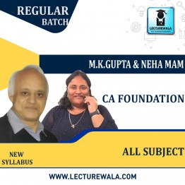 CA Foundation All Subject  Regular Course : Video Lecture + Study Material By Neha MAM And M K Gupta (For  Nov. 2021)