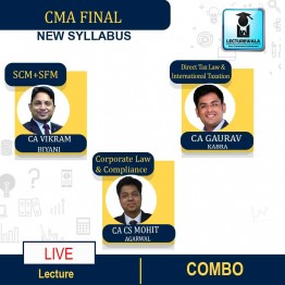 CMA Final Combo Group 3 All Papers (Paper - 13+14+15+16) Online Live Regular Course : Video Lecture by CA CS Mohit Agarwal & CA Gaurav Kabra & CA Vikram Biyani (For June & Dec.2021)