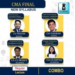 CMA Final Both Group All Papers Combo (Except - CFR) Online Live Regular Course : Video Lecture by CA CS Mohit Agarwal & CA CS Divya Agarwal &  CA Gaurav Kabra & CA Vikram Biyani (For June & Dec.2021)