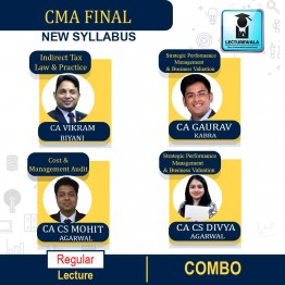 CMA Final Group - 4  Combo (Expect - CFR ) (Paper - 18+19+20) Online Live Regular Course : Video Lecture by CA CS Mohit Agarwal & CA CS Divya Agarwal & CA Gaurav Kabra & CA Vikram Biyani (For June & Dec.2021)