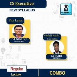 CS Executive MODULE-1+2 (All 8 Papers) Regular Course New Syllabus : Video Lecture + Study Material By CA Mohit Agarwal & CA NIKUNJ GOENKA SIR (For Dec. 2021, June 2022)