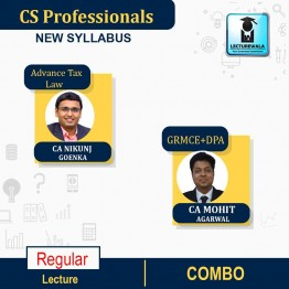 CS Professionals Module -1 Law Papers ( 2 Law Paper with Tax )Combo   Regular Course : Video Lecture + Study Material By CA Mohit Agarwal Sir And CA Nikunj Goenka Sir (For Till Dec. 2021)