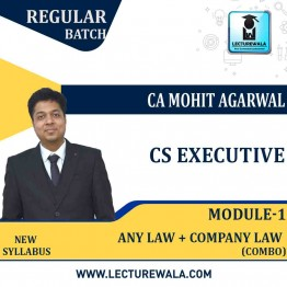 CS Executive Module-1 Any Law + Company Law Combo Regular Course : Video Lecture + Study Material By Mohit Agarwal ( Dec. 2021)