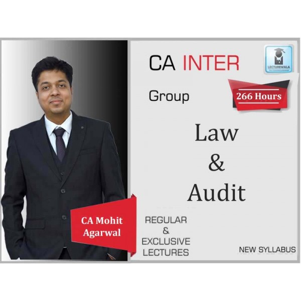 CA Inter Audit And Law Combo Regular Course : Video Lecture + Study Material By Mohit Agarwal (For May 2020 & Nov. 2020)