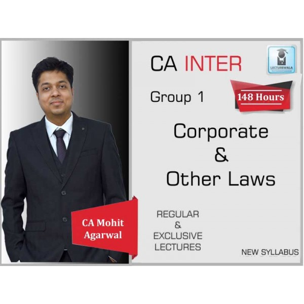 CA Inter Law New Syllabus Regular Course : Video Lecture + Study Material by CA Mohit Agarwal (For May 2020 & Nov. 2020)