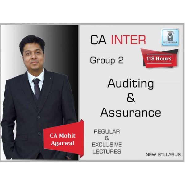 CA inter Auditing & Assurance : Video Lecture + Study Material by CA Mohit Agarwal (For May 2020 & Nov. 2020)