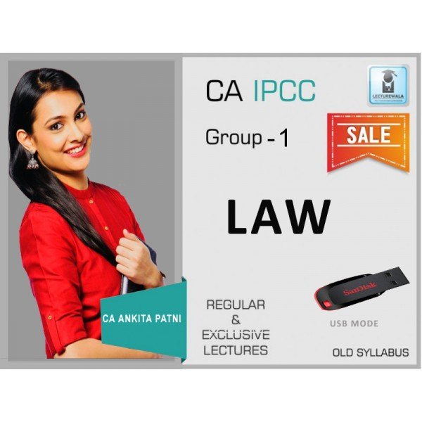 CA Ipcc Law Old Syllabus : Video Lecture + Study Material by CA Ankita Patni (For May 2019)