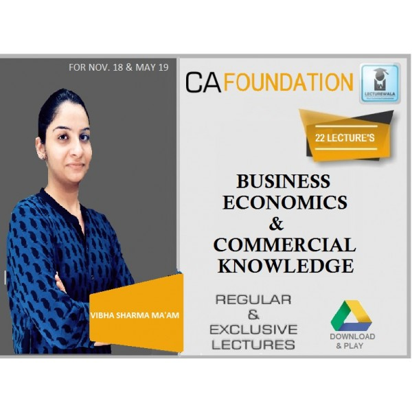 CA Foundation / CPT Business Economics & Commercial Knowledge by Prof. Vibha Sharma