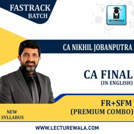 CA Final FR & SFM Premium Batch Combo Regular Course (In English) New Syllabus : Video Lecture + Study Material By CA Nikhil Jobanputra (For Nov 2021 & May 2022 & Nov 2022)