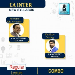 CA Inter Both Group Combo ( Accounts + Adv.Accounts + Cost Accounting + Fm -Eco) New Syllabus  Regular Course : Video Lecture + Study Material By CA Avinash Sancheti And CA Navneet Mundhra (For NOV 2021 / MAY 2022)