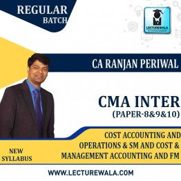 CMA Inter Cost Accounting Operations & Sm and cost & Management Accounting And FM Combo Regular Course : Video Lecture + Study Material by CA Ranjan Periwal and CA Mayank Saraf (For Dec. 2021 & June 2021)