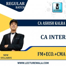CA Inter Financial Management And Economics & Cost And Management Accounting Regular Course Combo : Video Lecture + Study Material By CA Ashish Kalra (For MAY 2021 TO NOV.2021)