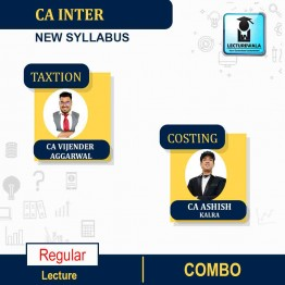 CA Inter Taxation + COSTING  COMBO Regular Course : Video Lecture + Study Material by CA Vijender Aggarwal & CA Ashish  Kalra  (For May / Nov. 2021)