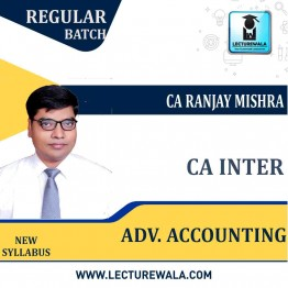 CA inter Adv. Accounting Combo Latest Batch New Course : Video Lecture + Study Material By CA Ranjay Mishra  (For June 2021 & Dec. 2021)