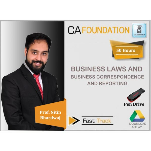 CA Foundation Law & Business Correspondence And Reporting Crash Course : Video Lecture + Study Material By Prof. Nitin Bhardwaj (For May 2020 & Nov. 2020)