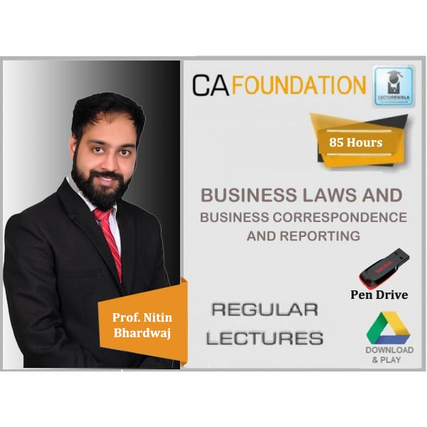 CA Foundation Law & Business Correspondence And Reporting Regular Course : Video Lecture + Study Material By Prof. Nitin Bhardwaj (For May 2020 & Nov. 2020)