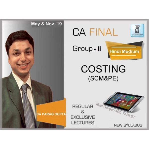 CA Final SCMPE Hindi with English Language : Video Lecture + Study Material By CA Parag Gupta (For May & Nov. 2019)
