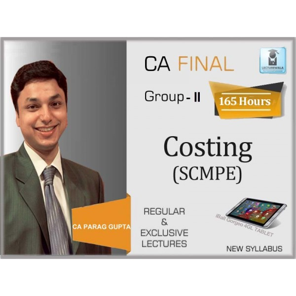 CA Final SCMPE Hindi with English Language : Video Lecture + Study Material By CA Parag Gupta (For May 2020 & Nov. 2020)