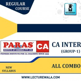 CA Inter Group-1  All  Subject Combo  Regular Course : Video Lecture + Study Material By (For May 2021 to Nov.2021)
