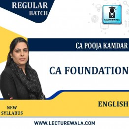 CA Foundation English Only Regular Course : Video Lecture + Study Material By CA Pooja Kamdar (For May / Nov. 2021)