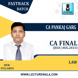 CA Final Corporate & Economic Laws (Aug./July 2021 Batch) New Syllabus Crash Course : Video Lecture + Study Material by CA Pankaj Garg (For Nov. 2021 & May 2022)
