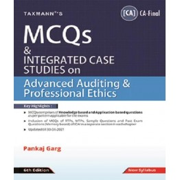CA Final Advanced Auditing & Professional Ethics MCQ Book by CA Pankaj Garg  For Nov. 2021
