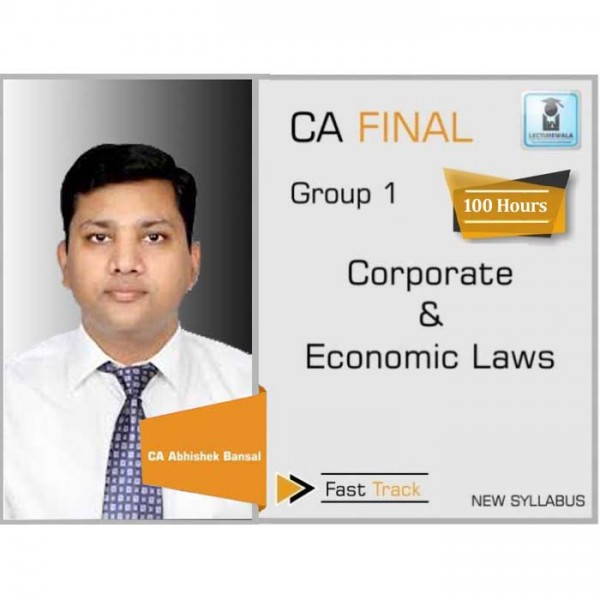 CA Final Corporate & Economic Laws New Syllabus Crash Course : Video Lecture + Study Material by CA Pankaj Garg (For May 2020 & Nov. 2020)