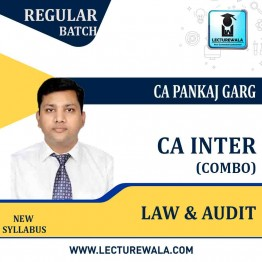 CA Inter Law & Audit New Syllabus Regular Course Combo  : Video Lecture + Study Material by CA Pankaj Garg (For Nov. 2021 & May / Nov. 2022)