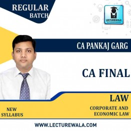 CA Final Corporate & Economic Laws Regular Pre-Booking (Feb.2021 Batch)  : Video Lecture + Study Material by CA Pankaj Garg (For May 2021 And Nov. 2021)