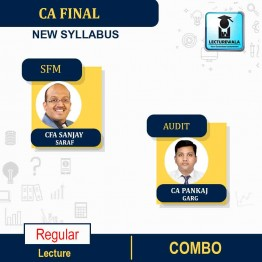 CA FINAL Audit (Aug./July 2021 Batch) & SFM Combo New Syllabus Regular Course : Video Lecture + Study Material By CA Pankaj Garg &  CA Sanjay Saraf  (For Nov.2021 & May 2022)