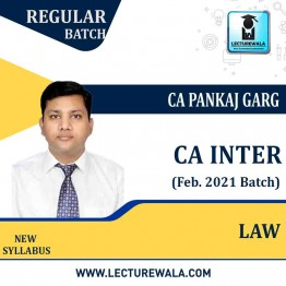 CA Inter Law Pre-Booking New Syllabus Regular Course (Feb. 2021 Batch) : Video Lecture + Study Material By CA Pankaj Garg (For Nov. 2021/May 2022/Nov. 2022)