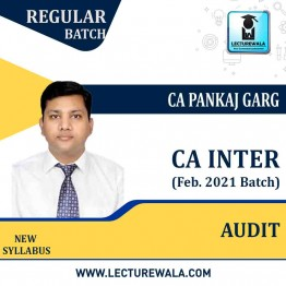 CA Inter Audit & Assurance New Syllabus Pre-booking Regular Course (Feb. 2021 Recording) : Video Lecture + Study Material By CA Pankaj Garg (For Nov. 2021/May 2022/Nov. 2022)