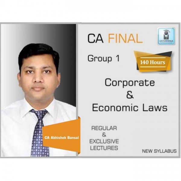 CA Final Corporate & Economic Laws New Syllabus : Video Lecture + Study Material by CA Pankaj Garg (For May 2020 & Nov. 2020)