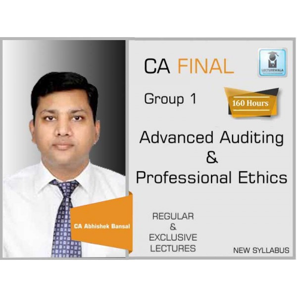 CA Final Audit New Syllabus Regular Course : Video Lecture + Study Material By CA Pankaj Garg (For May 2020 & On wards)