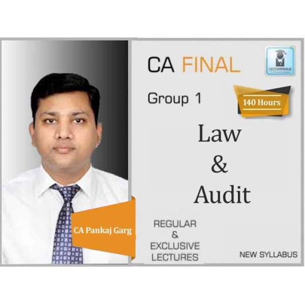 CA Final Corporate & Economic Laws & Advance Audit New Syllabus Combo : Video Lecture + Study Material by CA Pankaj Garg (For May 2020 & Nov. 2020)