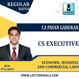 CS Executive Economic, Business and Commercial Laws New Syllabus Regular Course : Video Lecture + Study Material By CA CS Pavan Gahukar (June / Dec. 2021)