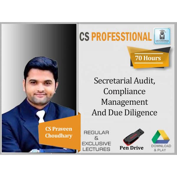 CS Professional Secretarial Audit, Compliance Management And Due Diligence Old Syllabus : Video Lecture + Study Material By CS Praveen Choudhary (For June 2020)