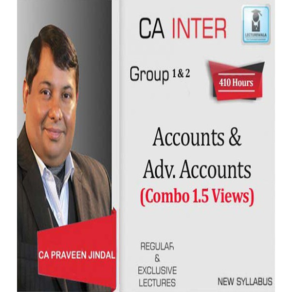 CA Inter Accounts And Adv. Accounts Combo By CA Parveen Jindal