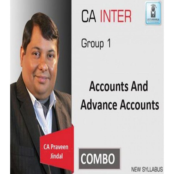 CA Inter Accounts And Adv. Accounts Combo Regular Course : Video Lecture + Study Material By CA Parveen Jindal (For May 2020 & Nov. 2020)