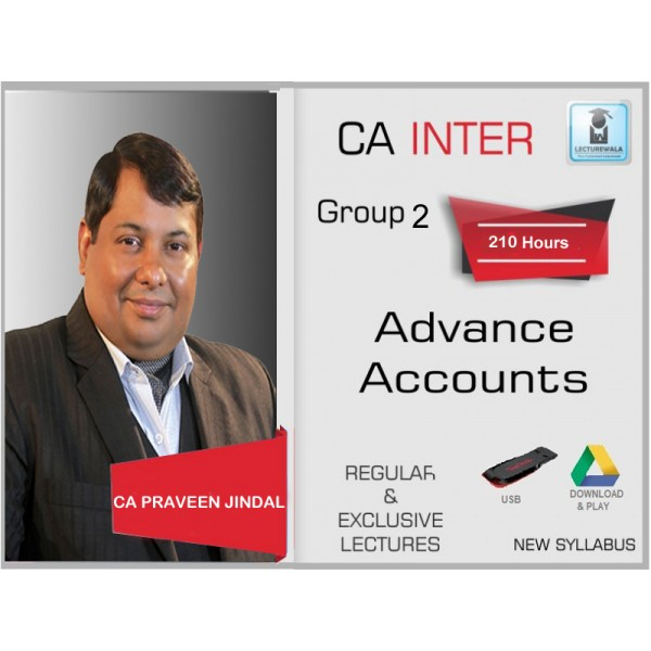 CA Inter Advance Accounting Full Course : Video Lecture + Study Material by CA Parveen Jindal (For Nov. 2019)