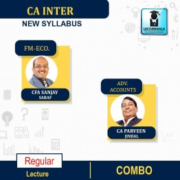 CA Inter Adv. Accounts & FM Eco Combo RegularCourse : Video Lecture + Study Material By CA Parveen Jindal and CFA Sanjay Saraf (For May 2021 & Nov. 2021)