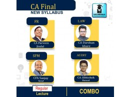 CA Final Group-1 Combo (FR + SFM + AUDIT + LAW) Regular Course: Video Lectures + Study Materials by CA Parveen Jindal, CA Abhishek Bansal, CFA Sanjay Saraf & CA Darshan Khare  (For Nov. 2021 & May 2022)