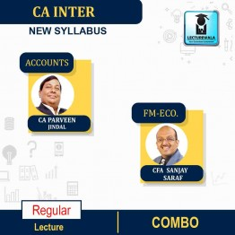CA Inter Accounts & FM Eco Combo RegularCourse : Video Lecture + Study Material By CA Parveen Jindal and CFA Sanjay Saraf (For  Nov. 2021)